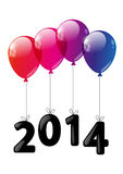 New Year concept. Balloons with number 2014 Stock Images