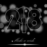 New Year 2018 concept on black ambient background. Vector illustration Stock Illustration