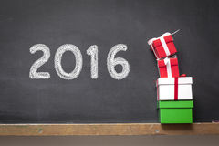New Year. Concept on the blackboard stock illustration