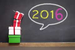 2016 New Year. New year concept on the blackboard Royalty Free Stock Photos