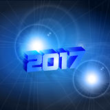 New year 2017. 2017 new year concept blue background vector illustration