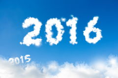 New year 2016 concept Stock Photography