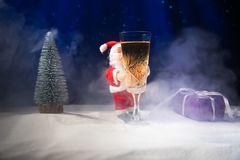 New Year concept with champagne cork royalty free stock photo