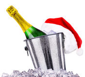 New Year concept with champagne isolated Royalty Free Stock Image