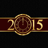 New year 2015 concept with clock Royalty Free Stock Photography