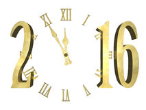 New year 2016 -  concept. Clock and numbers 2016, Happy new year 2016 -  concept Royalty Free Stock Photo