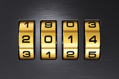 New Year 2014 concept. Creative New Year 2014 concept stock illustration