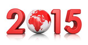 New Year 2015 concept Stock Image