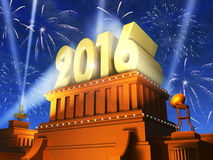 New Year 2016 concept Royalty Free Stock Photos