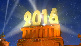 New Year 2016 concept stock video footage