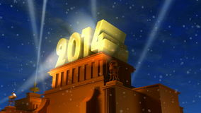 New Year 2014 concept stock video footage