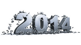 New year 2014. Concept in 3d vector illustration
