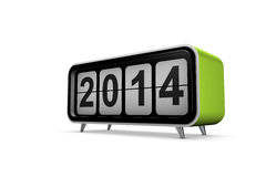New year 2014. Concept in 3d stock illustration