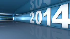 New year 2014. Concept in 3d Stock Photo