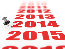 New year 2014. Concept in 3d Royalty Free Stock Photos