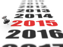 New year 2015. Concept in 3d Stock Photo