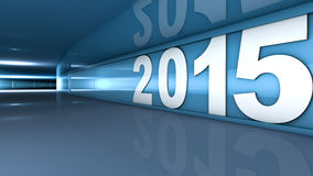 New year 2015. Concept in 3d Stock Image