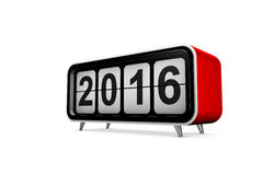 New year 2016. Concept in 3d Royalty Free Stock Images