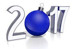 2017 New Year concept. 2017 - 3D graphics about New Year, Christmas etc Vector Illustration