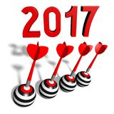 2017 New Year concept Stock Images