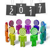 2017 New Year concept. 2017 - 3D graphics about New Year, time etc Royalty Free Stock Photo