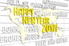 2017 New Year concept. 2017 - 3D graphics about New Year, time etc Royalty Free Stock Images