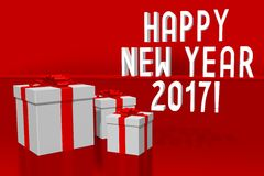 2017 New Year concept. 2017 - 3D graphics about New Year, time etc Stock Image