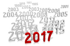 2017 New Year concept. 2017 - 3D graphics about New Year, time etc Stock Photo