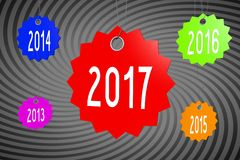2017 New Year concept Stock Image