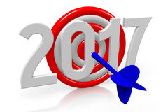2017 New Year concept Royalty Free Stock Images