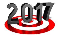 2017 New Year concept Royalty Free Stock Photo