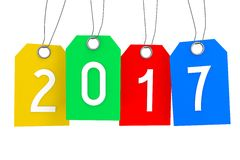 2017 New Year concept. 2017 - 3D graphics about New Year, time etc Stock Illustration