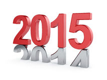 2015 New Year concept. 3d illustration of 2015 New Year concept Royalty Free Stock Photos