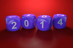 New Year concept. 3d illustration of 2014 dices. New Year concept Stock Image