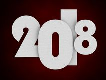2018 New Year concept. 3D illustration. 2018 Sign New Year concept. 3D illustration Royalty Free Stock Image