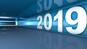 New year 2019 vector illustration