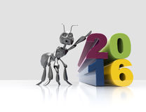 New year 2016. Concept 3d render Royalty Free Stock Images