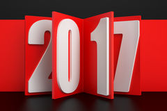 2017 New Year concept, 3D rendering Royalty Free Stock Photography