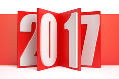 2017 New Year concept, 3D rendering Stock Photography