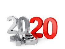 2020 New Year concept isolated stock photos