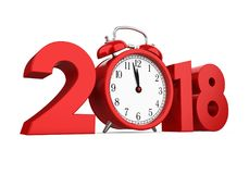 New Year 2018 Concept Isolated Stock Photos