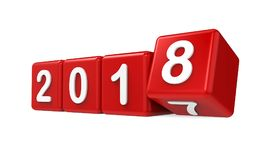 New Year 2018 Concept Isolated Royalty Free Stock Photography