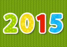New Year concept. With 2015 number Royalty Free Stock Images