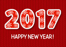 New Year concept with 2017. Number Stock Photos