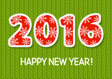 New Year concept with 2015 number. On knitted background Stock Photos