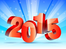 New Year concept. 2015 New year numbers on bright winter background Stock Photo