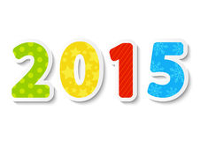 New Year concept with numbers. New Year concept with 2015 number Stock Photo
