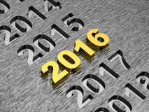 2016 new year concept. Rendering of 2016 new year concept Stock Photos