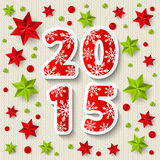 New Year concept with starry decorations Stock Image