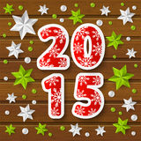 New Year 2015 concept with starry decorations Stock Photo